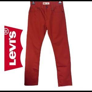 Levi's 511 red slim fit jeans size 18 regular W29 *L 29